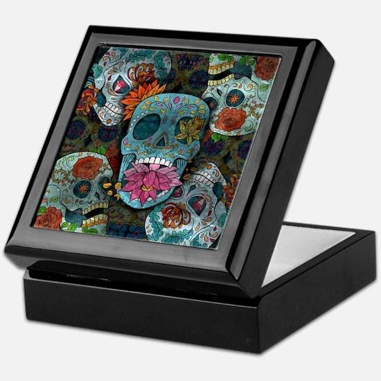 Sugar Skulls Design Keepsake Box