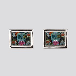 Sugar Skulls Design Rectangular Cufflinks