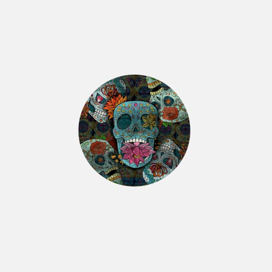 Sugar Skulls Design Mini Button