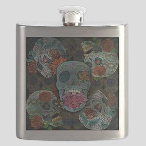 Sugar Skulls Design Flask