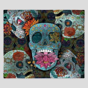 Sugar Skulls Design King Duvet