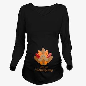 My 1st Thanksgiving Long Sleeve Maternity T-Shirt