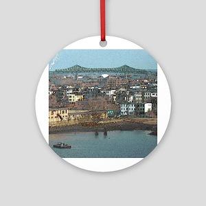 Mystic River's Tobin Bridge Ornament (Round)
