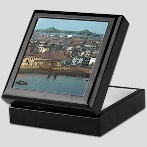 Mystic River's Tobin Bridge Keepsake Box
