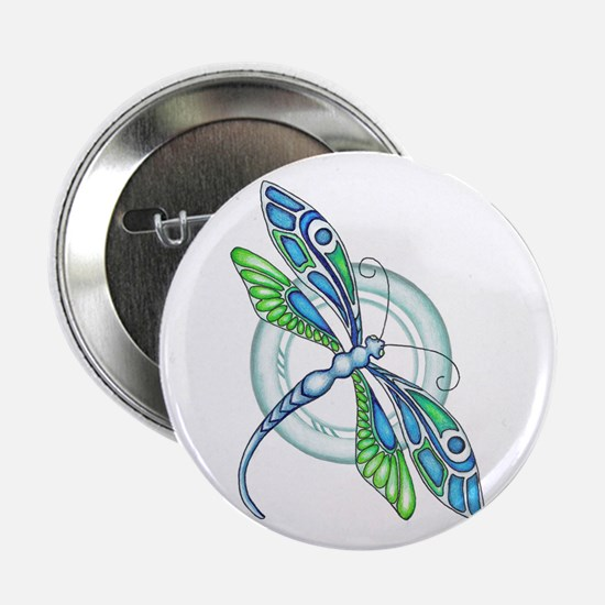 """Decorative Dragonfly 2.25"""" Button (10 pack)"""