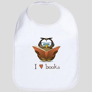 Book owl 3 Baby Bib
