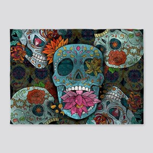 Sugar Skulls Design 5'x7'Area Rug