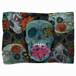 Sugar Skulls Design Pillow Sham