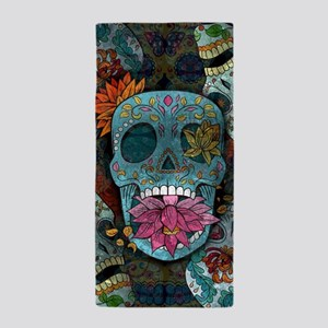 Sugar Skulls Design Beach Towel
