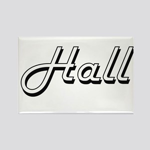 Hall surname classic design Magnets