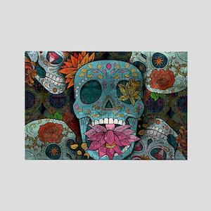 Sugar Skulls Design Magnets