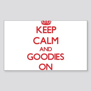 Keep Calm and Goodies ON Sticker