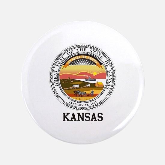 Kansas State Seal Button