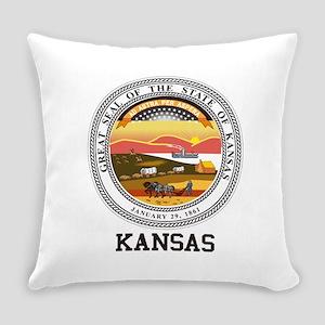 Kansas State Seal Everyday Pillow