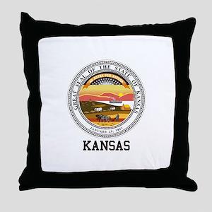 Kansas State Seal Throw Pillow