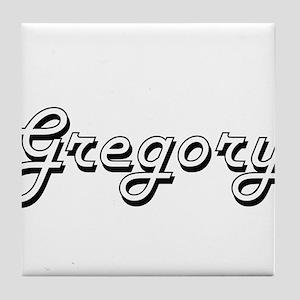 Gregory surname classic design Tile Coaster