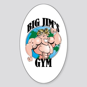 Big Jim's Gym Oval Sticker