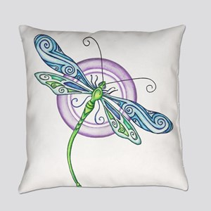 Whimsical Dragonfly Everyday Pillow