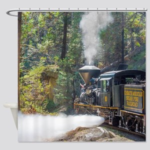 Steam Locomotive in the Forest Shower Curtain