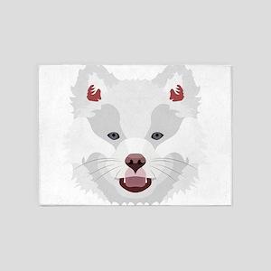 Illustration dogs face Finnish Lapp 5'x7'Area Rug