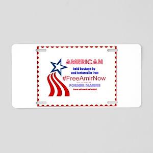 Free Amir Now 2 Aluminum License Plate