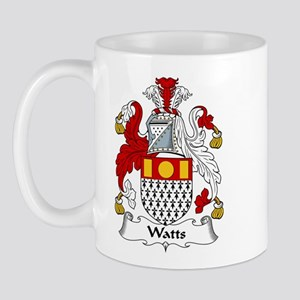 Watts Family Crest  Mug