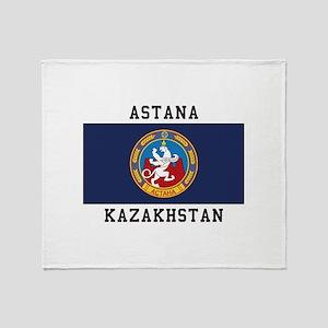 Astana, Kazakhstan Throw Blanket