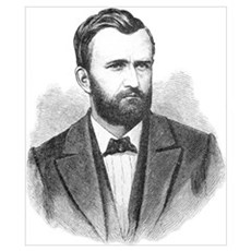 Ulysses S. Grant Illustrative Portrait Poster