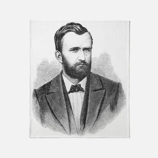 Ulysses S. Grant Illustrative Portra Throw Blanket
