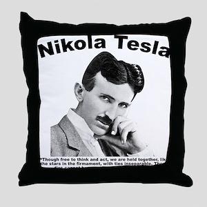 Tesla: Inseparable Throw Pillow