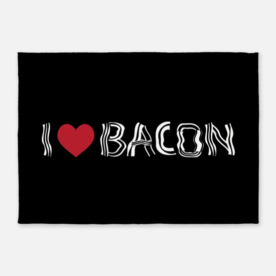 I Love Bacon 5'x7'Area Rug
