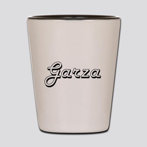 Garza surname classic design Shot Glass