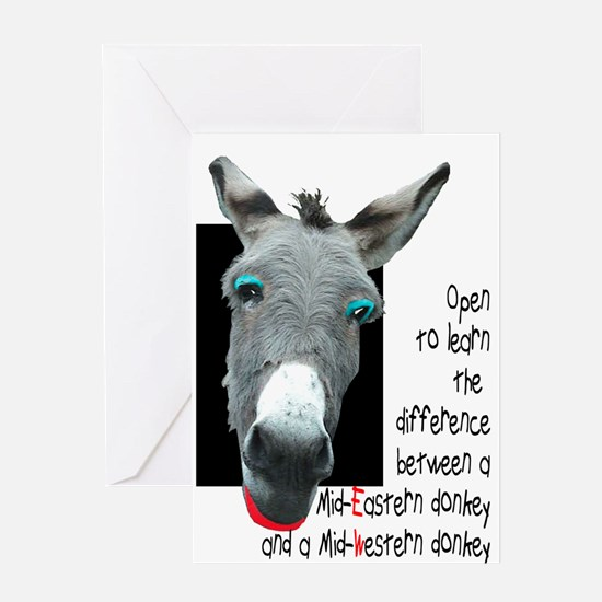MIDWESTERN DONKEY Greeting Card