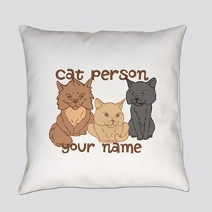 Personalized Cat Person Everyday Pillow