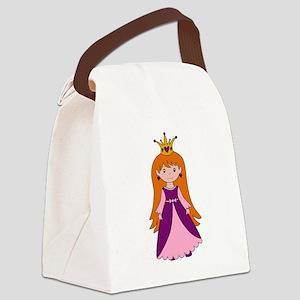 Princess (Lt Skin / Red Hair) Canvas Lunch Bag