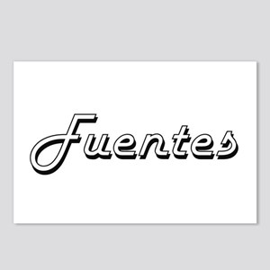 Fuentes surname classic d Postcards (Package of 8)