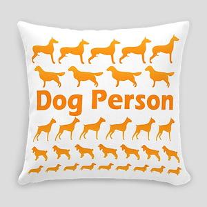 dog-person-orange-t Everyday Pillow