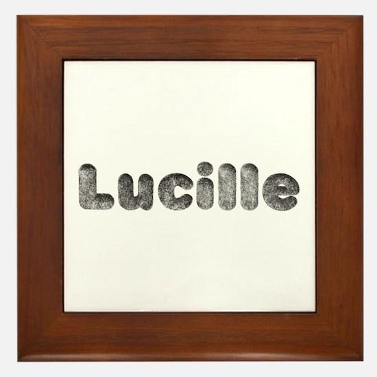 Lucille Wolf Framed Tile