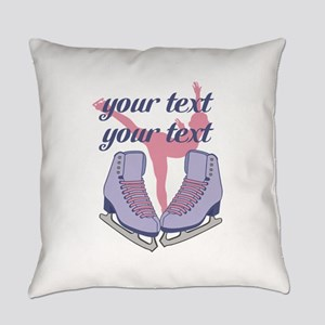 Personalized Ice Skating Everyday Pillow