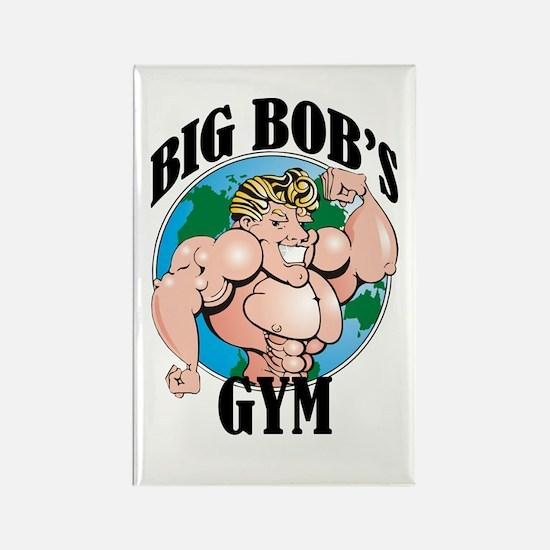 Big Bob's Gym Rectangle Magnet