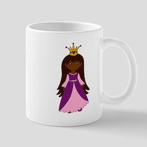 Princess (Dark Skin / Brown Hair) Mugs