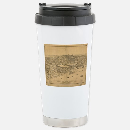 Vintage Pictorial Map o Stainless Steel Travel Mug
