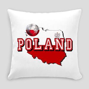 Polish Flag Map Everyday Pillow