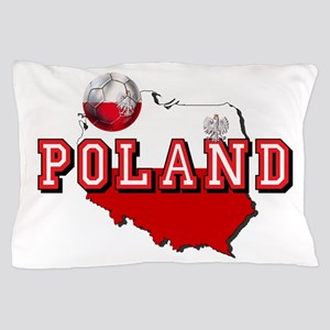 Polish Flag Map Pillow Case