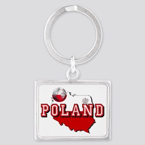 Polish Flag Map Landscape Keychain