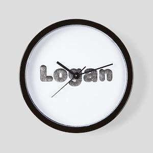 Logan Wolf Wall Clock