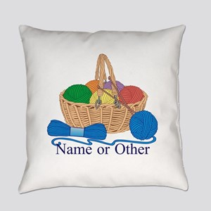 Personalized Knitting Everyday Pillow