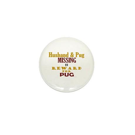 Husband & Pug Missing Mini Button (100 pack)