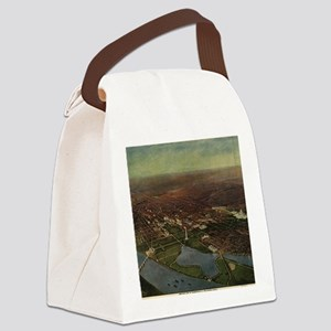 Vintage Pictorial Map of Washingt Canvas Lunch Bag