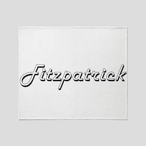 Fitzpatrick surname classic design Throw Blanket